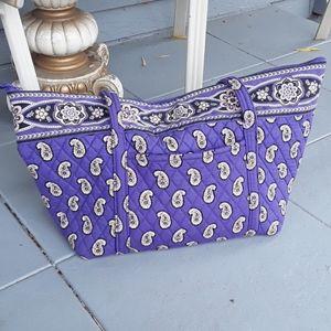 Vera Bradley purple hand bag over night duffel